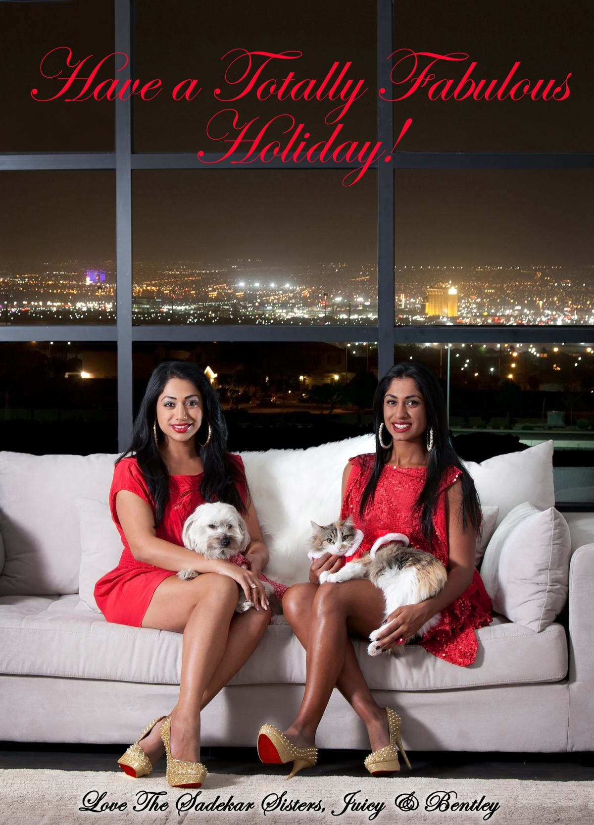 Happy Holidays from the Sadekar Sisters